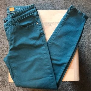 Pilcro for Anthropologie Teal Denim Pant